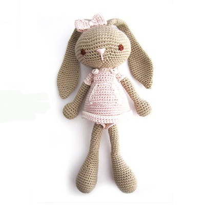 Handmade crochet soft bunny toys machined knitting stuffed toys