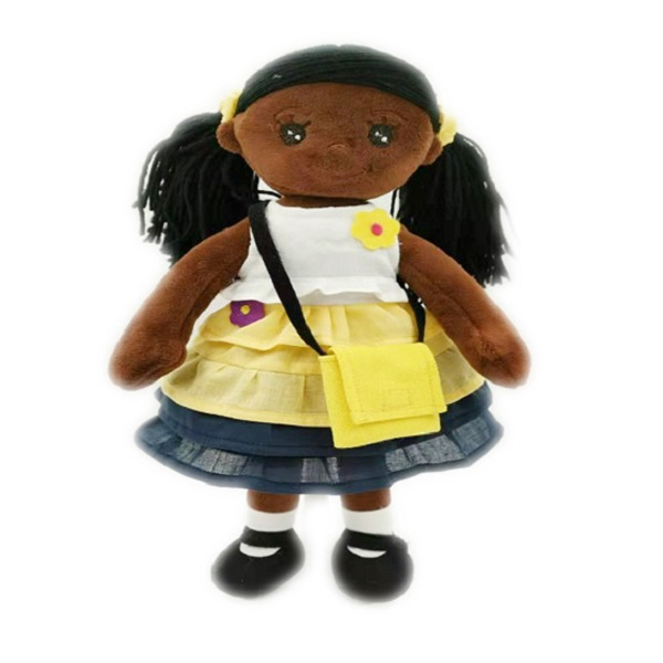 Wholesale Handmade cloth African American black doll